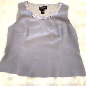 Terani Couture Sleeveless Gray  Blouse size 18